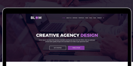 creative agency psd template 2