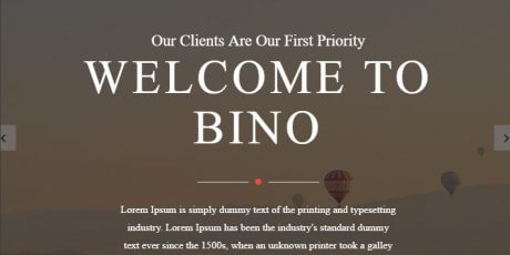 free html5 landing page template