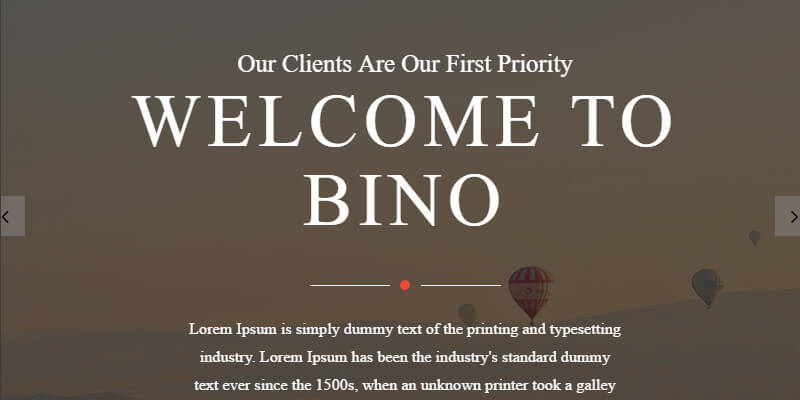 Bino Free HTML Landing Page Template Bypeople - Html welcome page template