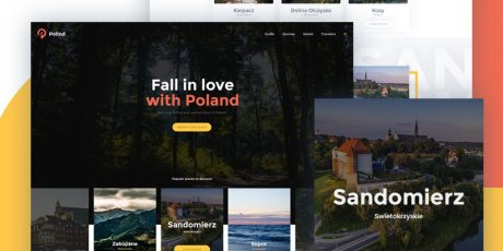 free modern flat psd web template