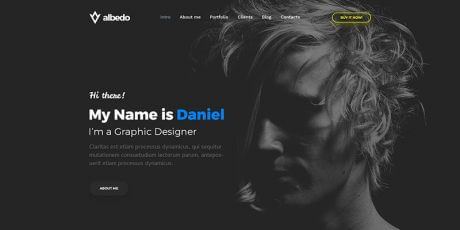 free personal one page psd template
