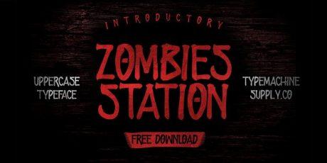 free zombie handmade font