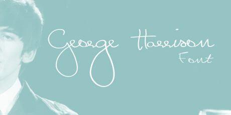 george harrison signature inspired ttf font