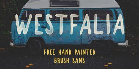 hand painted brush typeface