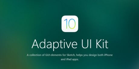 ios 10 adaptive sketch ui kit