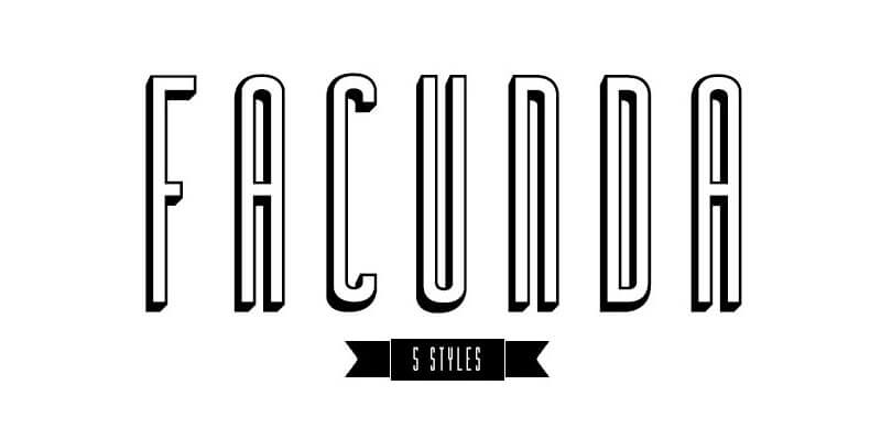 modern looking 5 style font