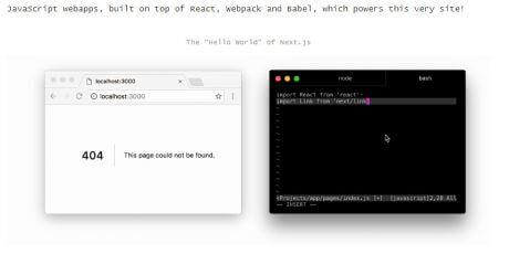 simple server rendered javascript framework