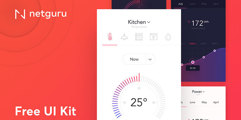 Superbe Smart Home App Sketch UI Kit
