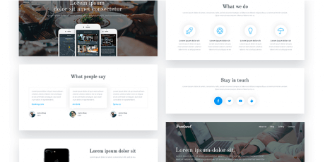ui cards for landing pages