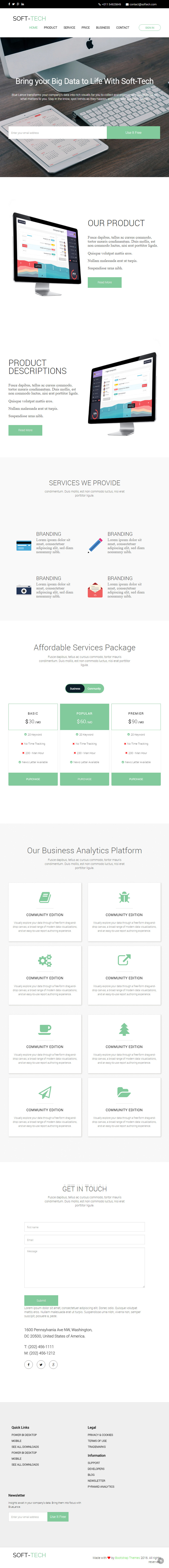 Soft Tech Html Landing Page Template Bypeople