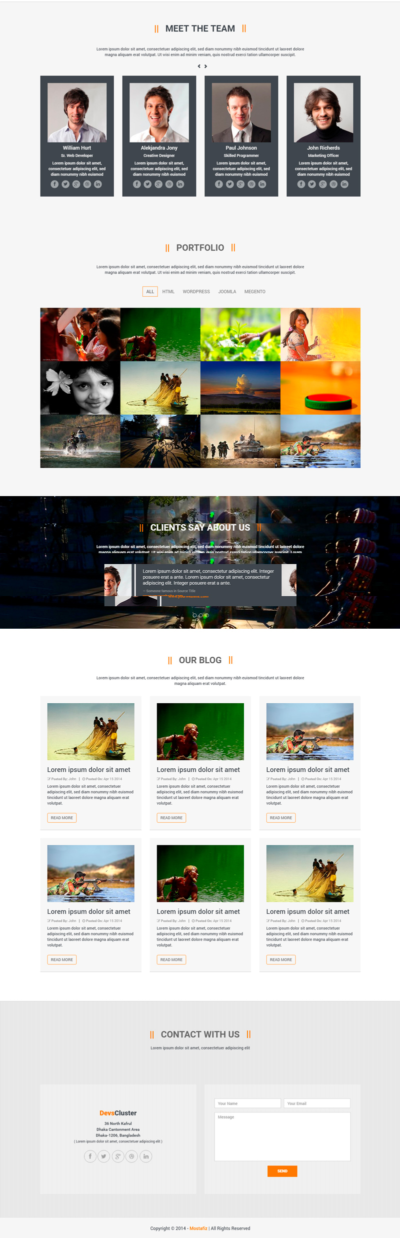 free bootstrap templates 2016 - himu free html css one page bootstrap template bypeople