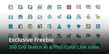 awesome line color svg icons