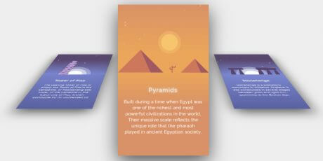 css 3d cards hover effect