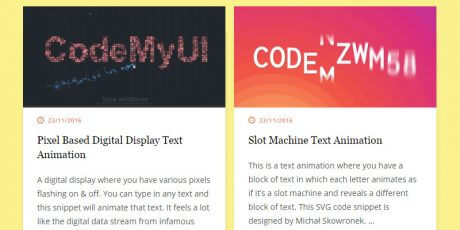 css animated text design inspiration