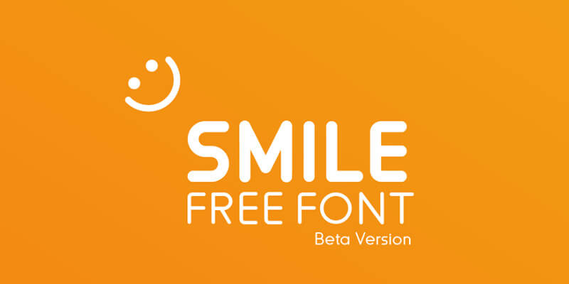 smile free adaptable curvy font