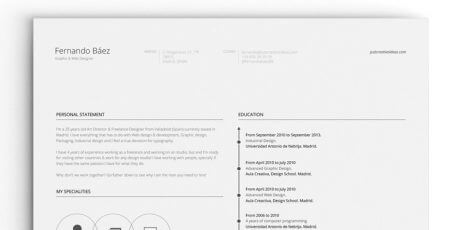 free ai resume template