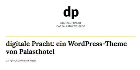 free blogging focused wordpress theme