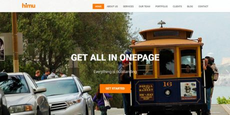 free html css one page bootstrap template