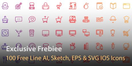 free line ai sketch eps svg ios icons