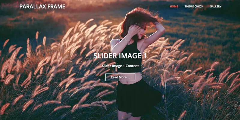 Parallax Frame: Free Parallax WordPress Theme | Bypeople