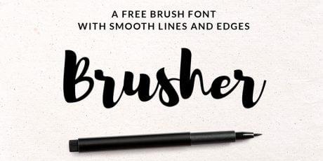 free stylish brush font