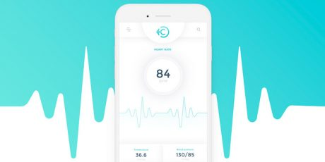 medical mobile app psd template