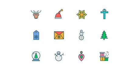 multistyle ai sketch png svg eps christmas icons