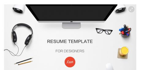 psd sketch resume template