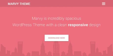 simple flat wordpress theme