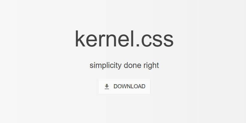 Kernel css unintrusive semantic css framework