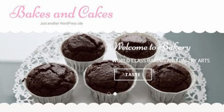 bakery focused wordpress theme