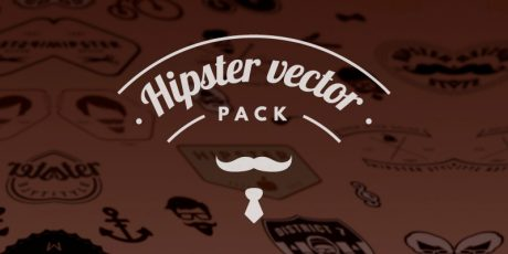 editable hipster vector elements