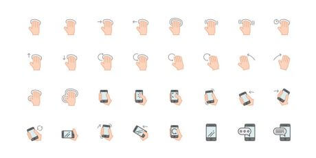free hand gesture ai eps svg icons
