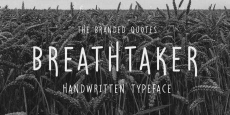 handwritten typeface free font