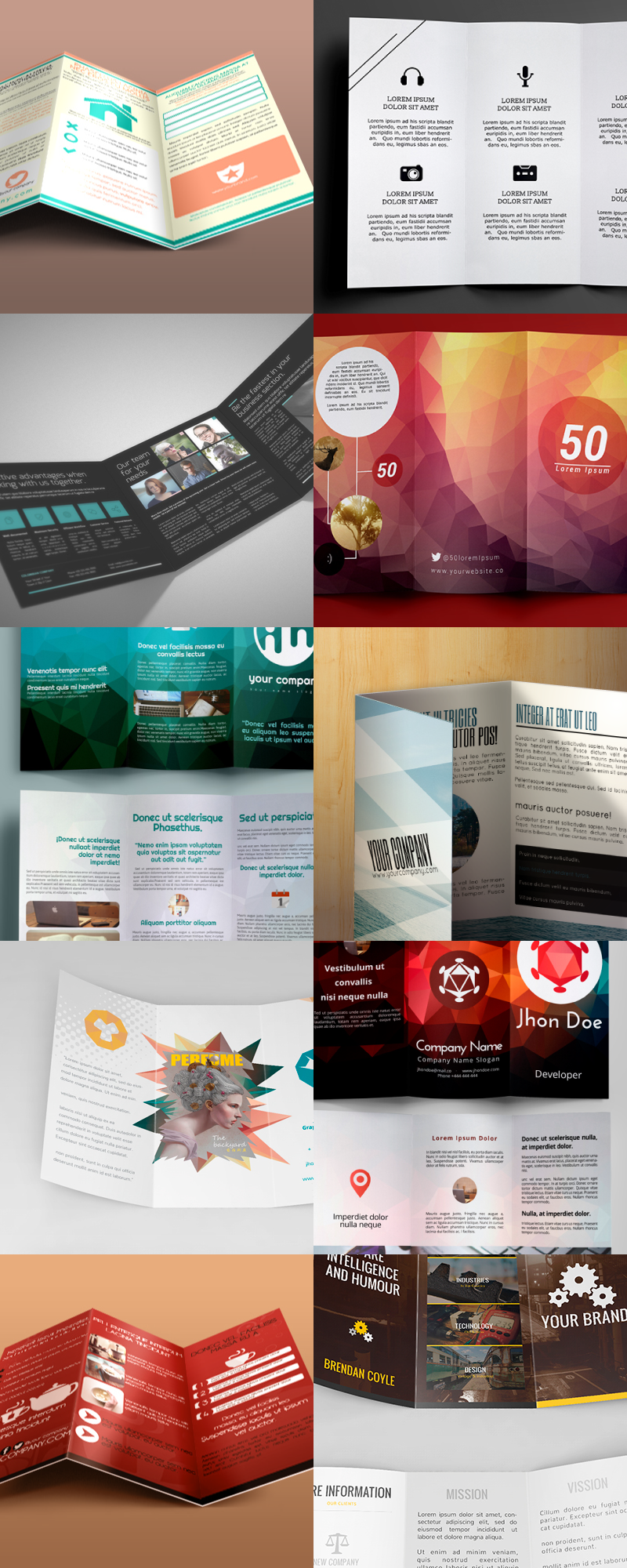 Editable Illustrator Trifold Brochure Templates ByPeople - Tri fold brochures templates