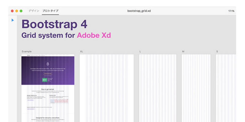 adobe xd bootstrap 4 grid