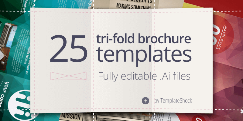 Editable Illustrator Trifold Brochure Templates ByPeople - Tri fold brochure template download