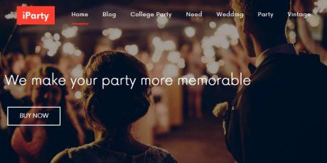 free events planing wordpress theme