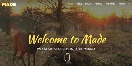 freelance designer one page bootstrap template