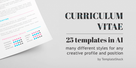 illustrator cv templates bundle