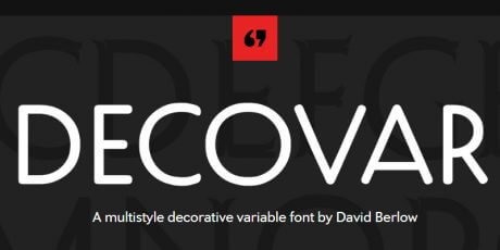 multistyle decorative variable font