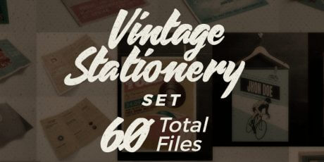 vector ai vintage stationery elements