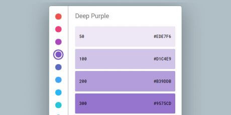 css material color picker