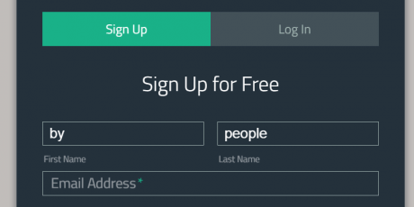css sign up form floating labels