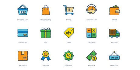 free line shopping ai eps svg png icons