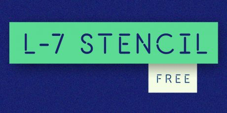 free minimal stencil font