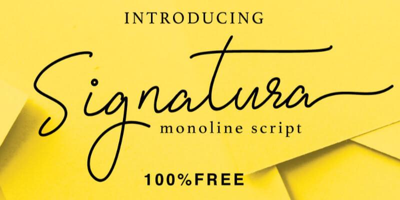free monoline modern typeface