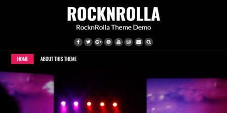 free rock bands wordpress theme