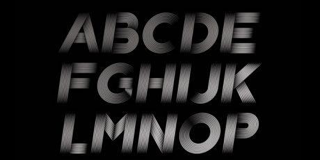 futuristic vector font