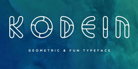 kodein geometric typeface